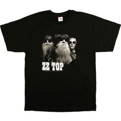 ZZ Top Band Photo Black T-Shirt Clearance 30% OFF ($19) ❤ liked on Polyvore featuring tops, t-shirts, rock and roll t shirts, womens plus tops, tiedye t shirts, tie die tops and tie dye t shirts