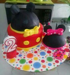 Mickey y minnie cake