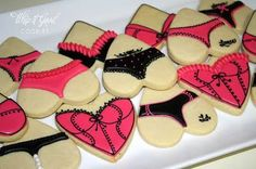 How cute are these cookies for a lingerie bachelorette party