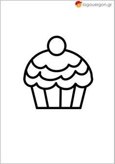 Χρωμοσελίδα cup cake (παχύ περίγραμμα 10στ) Charlie Brown, Fictional Characters, Templates, Diy, Models, Do It Yourself, Bricolage, Template, Stencils