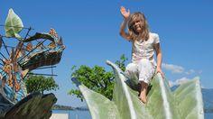 Für Kinder ist der Drache Leandra ein kleiner Klettersteig.