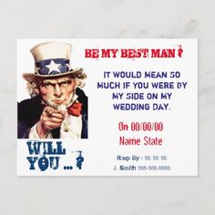 will you be my best man,groomsman invitation postcard Couples Wedding Shower Invitations, Bachelor Party Invitations, Halloween Wedding Invitations, Postcard Wedding Invitation, Wedding Anniversary Invitations, Sunflower Wedding Invitations, Vintage Wedding Invitations, Groomsmen Invitation, Groomsmen Proposal