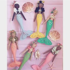 """@curiouspip shared a photo on Instagram: """"There will be 6 little mermaid toppers swimming into my shop on Tuesday 2nd Feb at 6.00pm UK time. Each is made by hand using the finest…"""" • Jan 30, 2021 at 11:30am UTC Uk Time, Mermaid Dolls, The Little Mermaid, Art Dolls, I Shop, Swimming, Photo And Video, Handmade, Shopping"""