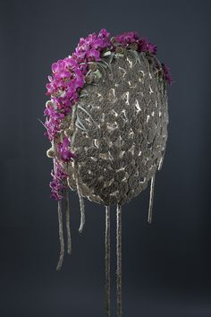 Inspiration with Phalanopsis, a structure made from reindeer moss ~ Pim van den Akker | Floral Design