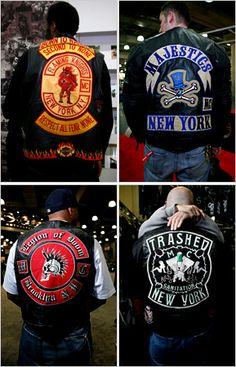 From the New York Times Biker Clubs, Motorcycle Clubs, Chevy Impala, Bike Gang, Custom Denim Jackets, Harley Davidson Art, Streetwear, Biker Vest, Biker Patches