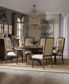 The insignia dining chairs in Rhapsody are so unique.