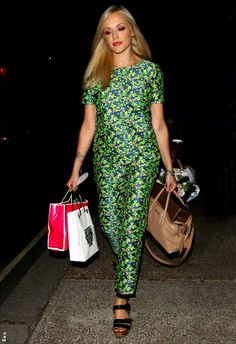 Fearne Cotton rocking cool co-ords from Boutique by Jaeger (get them on ASOS)