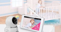 The VTech Pan & Tilt Video Monitor is a high tech, secure way to watch, hear and soothe babies remotely. Nursing Chair, Remote Viewing, Baby Monitor, Home Security Systems, Up And Running, Tilt, Baby Gear, Newborns, Parenting