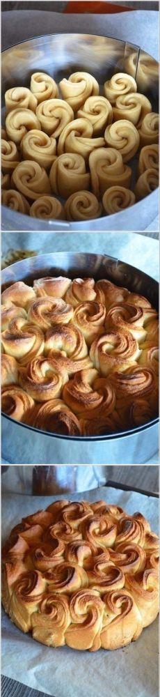 Wie eine Bäckerei pirog- Strauß Rosen zu kochen - ein Rezept, Zutaten und Fotos
