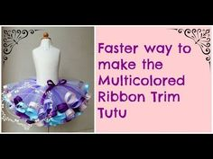 HOW TO: Make a Fluffy Ribbon Trim Tutu Minnie Mouse Theme Tutorial - YouTube
