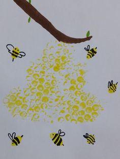 Bienenstock und Bienen malen - Basteln mit Kindern - Women's style: Patterns of sustainability Diy Crafts To Do, Bee Crafts, Preschool Crafts, Easy Crafts, Arts And Crafts, Bee Art, Easy Paintings, Painting For Kids, Handicraft
