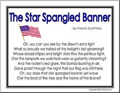 graphic about Words to the Star Spangled Banner Printable identified as 59 Great Celebrating Star Spangled Banner Working day pictures within just 2013
