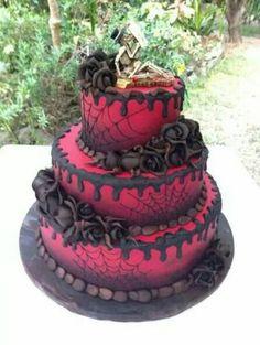 Awesome Halloween wedding cake