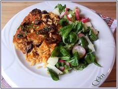 Reis mit Pilzen im Ofen auf bulgarische Art