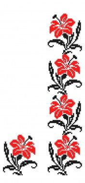 This Pin was discovered by Öze Beaded Cross Stitch, Cross Stitch Borders, Cross Stitch Flowers, Cross Stitch Charts, Cross Stitch Designs, Cross Stitching, Cross Stitch Embroidery, Embroidery Patterns, Hand Embroidery