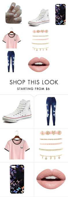"""""""Untitled #2"""" by rowlandgirl-548 ❤ liked on Polyvore featuring Converse, Charlotte Russe, Nikki Strange and Nevermind"""