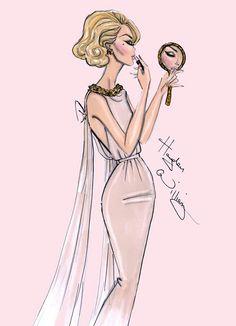 adb1024e0 Glam. Mapis Guarnizo · fashion art · Blanka Matragi Figurines De Moda