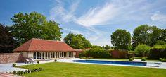Traditional oak framed pool pavilion