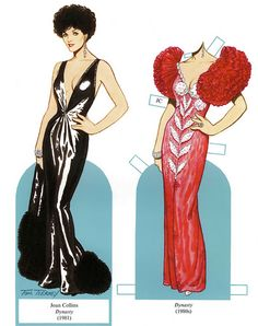 Paper doll - Joan Collins in Dynasty Gowns