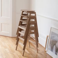 The distinctive Svelto bar stool stacks vertically when not in use.  Each features a seat with adzed top for added comfort, whilst the leg frame provides two handles to make moving the stool simplicity itself.  A cross bar provides a handy foot rest.  This stool is finished in a dead matt (DM) finish to both protect the oak furniture and show off its natural beauty.