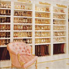 'My favorite room': Mariah Carey unveiled an extraordinary space in her residence that was entirely devoted to her footwear on Instagram on Sunday