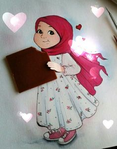 k - Best of Wallpapers for Andriod and ios Character Drawing, Character Design, We Heart It Wallpaper, Hijab Drawing, Islamic Cartoon, Anime Muslim, Gifs, Drawing Lessons, Islamic Art