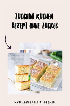 Low Carb & Keto Zucchinikuchen mit nur 1,4g Kohlenhydrate!! Lust auf Kuchen aber nicht wirklich Lust aufwändig zu backen? Das kennt doch jeder und gerade da ist dieser Kuchen perfekt. Denn es ist ein einfacher Rührkuchen vom Blech. Hier ist mein leckerstes Rezept! Zucchini, Low Carb Backen, Angel Food Cake, Cereal, Breakfast, Gluten Free Cooking, Gluten Free Recipes, Pies, Morning Coffee