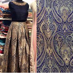 In Style Blue Brocade Indian Designer Lehenga Choli ,Indian Dresses - 1