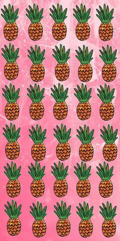 Pink pineapples iPhone wallpaper