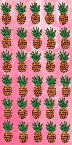Pink pineapples iPhone wallpaper