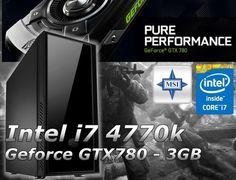 Gamer PC Intel I7 4770K Nvidia Geforce GTX 780 3GB MSI Z87-G41 Silencio