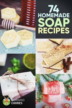 74 Delightful Homemade Soap Recipes That Are Fun to Make Want to learn how to make soap from scratch? Browse our collection of the best 74 homemade soap recipes that are natural, healthier, and easy to make. Soap Making Recipes, Homemade Soap Recipes, Homemade Gifts, Diy Gifts, Milk Recipes, Easy Recipes, Diy Savon, Savon Soap, Soap Making Supplies