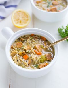 Tofu 'Chicken' Noodle Soup- a plant-based soup that's just as comforting and delicious as the classic! (vegan)