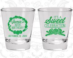 35th Birthday Shot Glass, It's a sweet celebration, Floral Birthday Shot Glass, Birthday Shot Glass, Birthday Glass (20040)