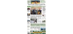 The front page of the Taunton Daily Gazette for Saturday, Dec. 6, 2014.
