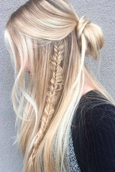 The vacation season is really soon, and we guess you need some ideas of easy summer hairstyles. Check out our new photo gallery and pick the ideal style. hair styles 42 Easy Summer Hairstyles To Do Yourself Easy Summer Hairstyles, Pretty Hairstyles, Braided Hairstyles, Hairstyle Ideas, Indian Hairstyles, Wedding Hairstyles, Black Hairstyles, Cute Down Hairstyles, Easy Hairstyles Straight Hair