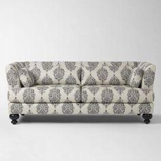 Sofa creme & black leaf - $500 (dallas)