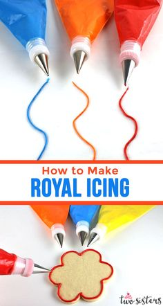 Learn How to Make Royal Icing - it s easier than you might think! This is a quick and easy recipe for Royal Icing that we use again and again for decorating cookies. Pin this easy Royal Icing recipe for later and us for more yummy Frosting Recipes Valentines Day Cookies, Xmas Cookies, Cupcake Cookies, Royal Icing For Cookies, Icing For Sugar Cookies, Cookie Icing That Hardens, Frosting For Christmas Cookies, Royal Icing For Piping, Sugar Cookie Frosting Recipe That Hardens