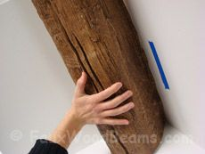 Faux Beam Install DIY -- Can also buy faux beams (and mantles and etc) from this company