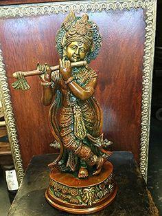Krishna Statue - Hindu God of Love and Divine Joy Brass Sculpture Figurine Mogul Interior http://www.amazon.com/dp/B00VHKGOBG/ref=cm_sw_r_pi_dp_hLFhvb1QPSEHW