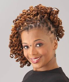 Curly Loc Updo | Black Women Natural Hairstyles