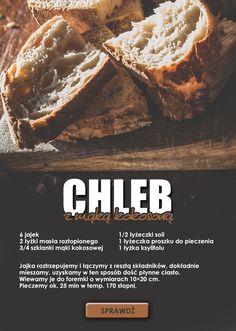 Przepis na chleb z mąką kokosową. Wypróbuj! #bread #healthyfood #recipe
