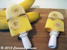 Banana Cream Pie Popsicles #zoku #popsicles #recipes #banana #pies