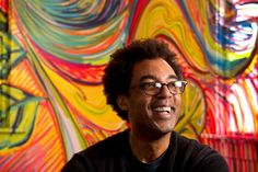 Houston artist, Austin advocate win MacArthur 'genius grants' - Rick Lowe poses for a portrait inside the Wards In Color installation by Troy Gooden at Project Row Houses. Photo: Brett Coomer, Staff / © 2014 Houston Chronicle