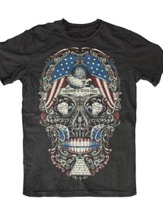 "Men's ""Free For The Dead"" Tee by Skygraphx (Black) #InkedShop #skull #graphictee #mens"