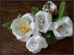 Kwiaty z wstążek