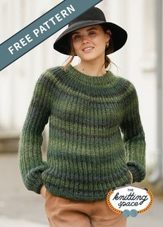 Looking for a classic knitwear to complete your daily winter outfits? Try your hands on this chic and thick knitted sweater that makes for a versatile layering top. Ladies Cardigan Knitting Patterns, Winter Knitting Patterns, Free Knitting Patterns For Women, Vintage Crochet Patterns, Knit Patterns, Knitting Tutorials, Knitted Poncho, Knitting Yarn, Sweaters For Women