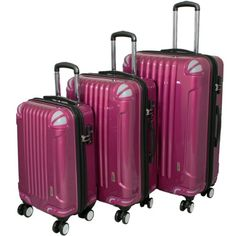 3 Piece Luggage Set Color Purple ** This is an Amazon Affiliate link. Find out more about the great product at the image link.