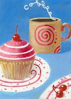 Coffee and Cupcake by ArtByRodriguez