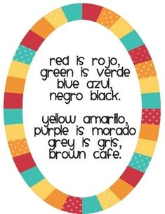 Art Free Song for Teaching Spanish Colors homeschool-stuff
